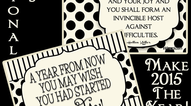 Great for the new year! Motivational Quotes to and free printables
