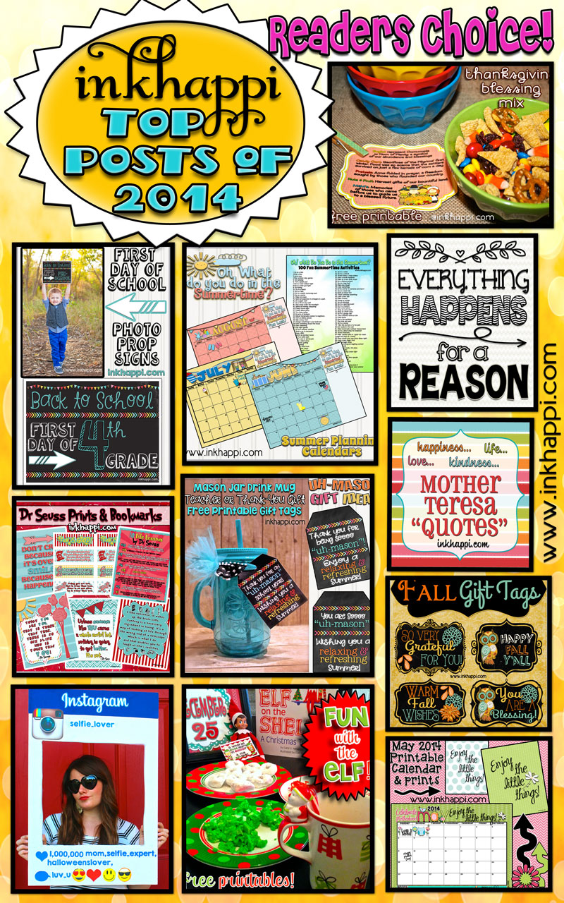 Top Posts of 2014 from inkhappi… Readers Choice!