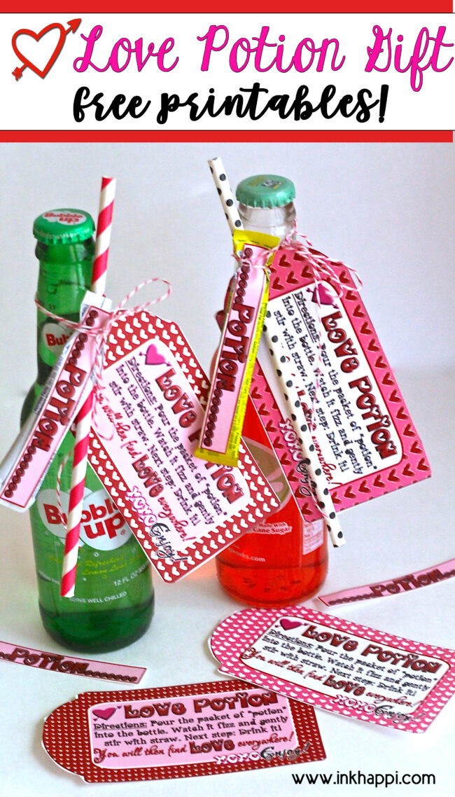 Love potion gift idea! #valentines #freeprintabe