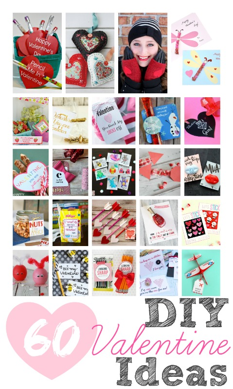Over 60 DIY Valentine ideas which are easy and inexpensive! Yay!