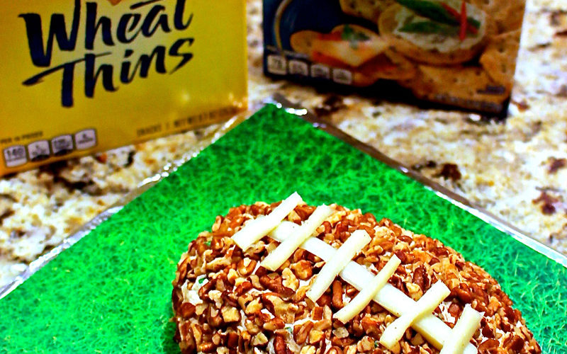 Football Cheese Ball and a Cool DIY Tray to Serve it on!