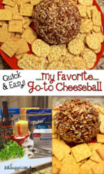 How to make a Cheeseball. A quick and easy go-to recipe!