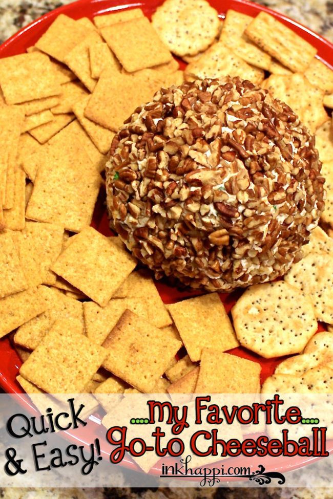 How to make a Cheese ball. A quick and easy go-to cheese ball recipe!