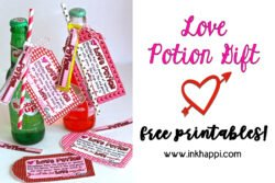 Love potion gift idea! #valentines #freeprintabe