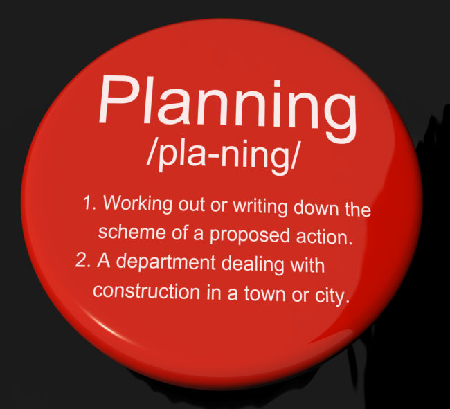 To achieve a goal, you must do some goal planning first.