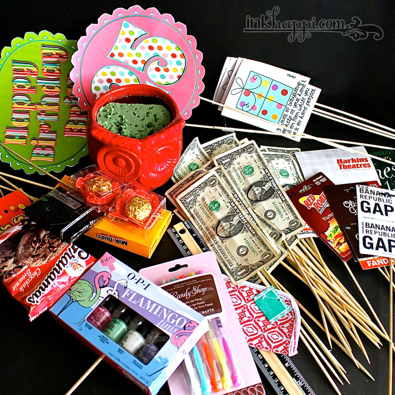 Birthday Gift Baskets : Birthday gift basket idea with free printables inkhappi