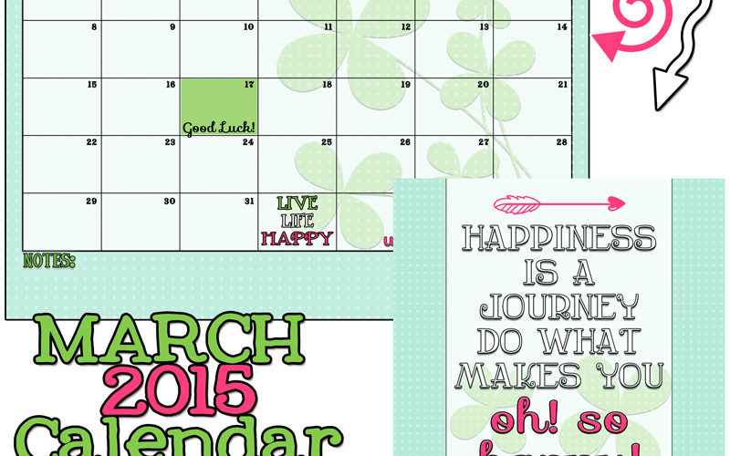 March 2015 Calendar and Print