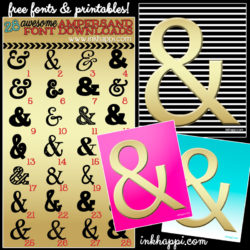 28 amazing ampersands and their font downloads as well as 3 free ampersand printables