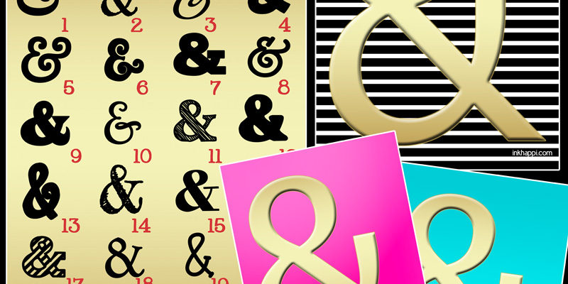 Ampersand Fonts & Prints… Oh, the Joy!!