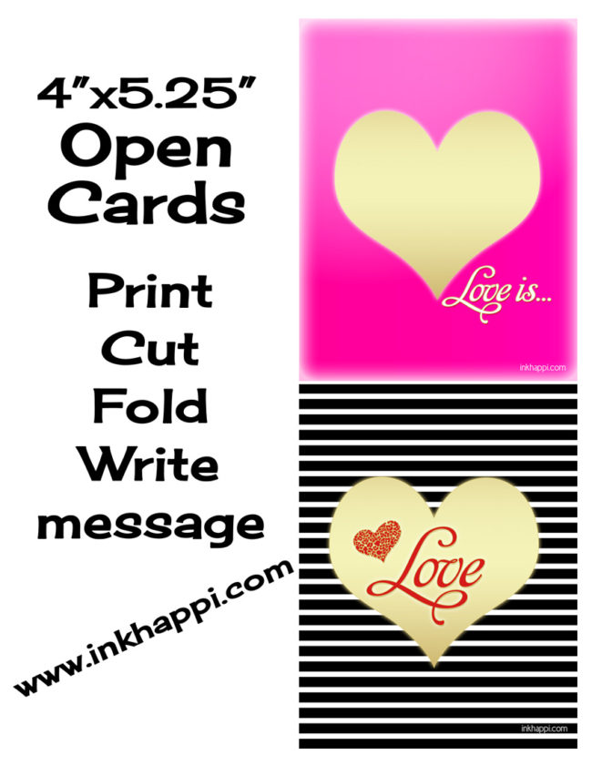 Cute! Free love prints and notecards.