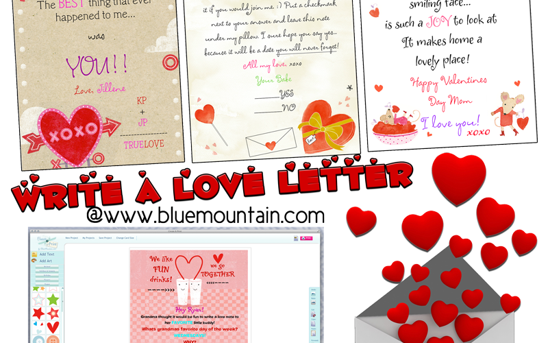 Choose and customize love letters online. Also a $100 Visa eCard giveaway!