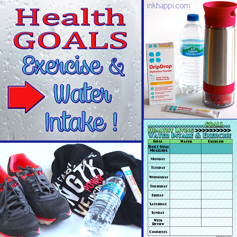 Water Intake And Exercise Tips Plus A Tracking Chart