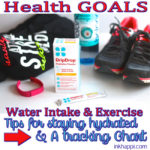 Water Intake and Exercise Tips plus a Tracking Chart!
