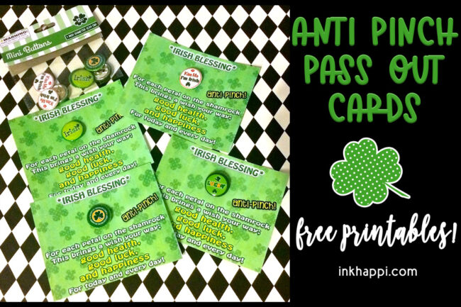 St Patricks Day facts and anti pinch pass out cards #freeprintable #StPatricksday