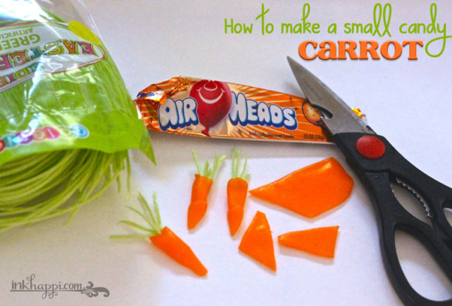 Snack Pack Easter Pudding Cups recipe idea with free printables. How to make these cute carrots too!