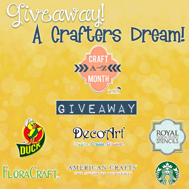A crafters dream. Craft Giveaway!