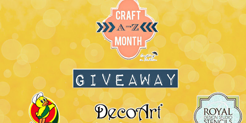 Craft giveaway to end National Craft Month!