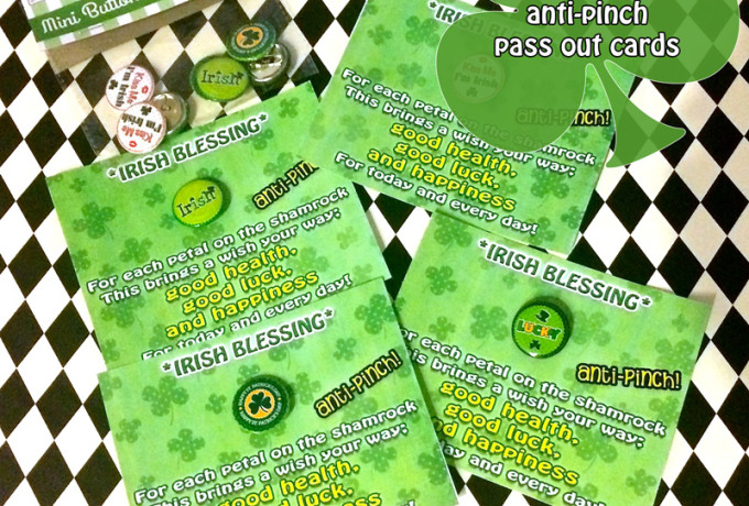 St Patricks day facts, irish Blessings and anti-pinch free printables!
