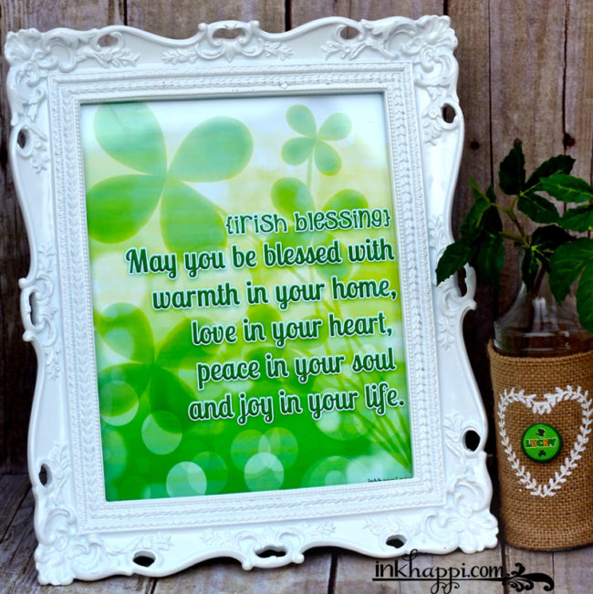 St Patricks Day Irish blessing. Free Printable!