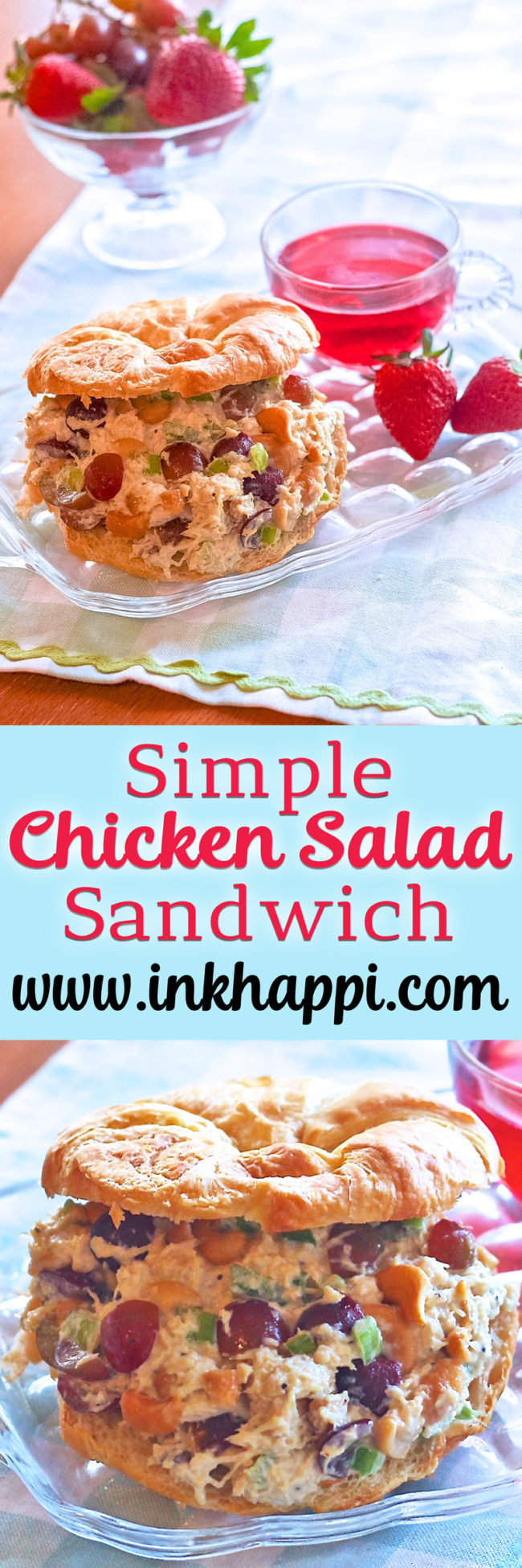 Its so yummy I die! Very simple and easy chicken salad sandwich