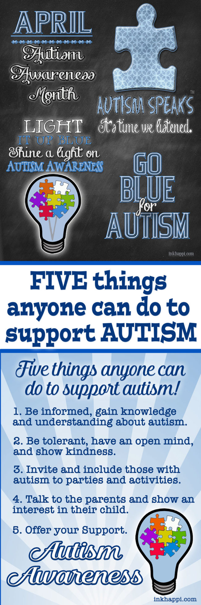 Autism support: Five things everyone can do to support autism!