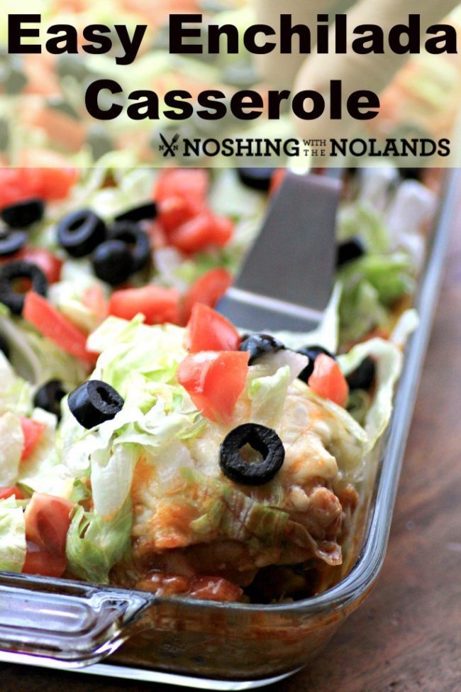 Who doesn't love a good enchilada casserole? This one looks so so good and it's easy! EASY ENCHILADA CASSEROLE from Noshing with the Nolands