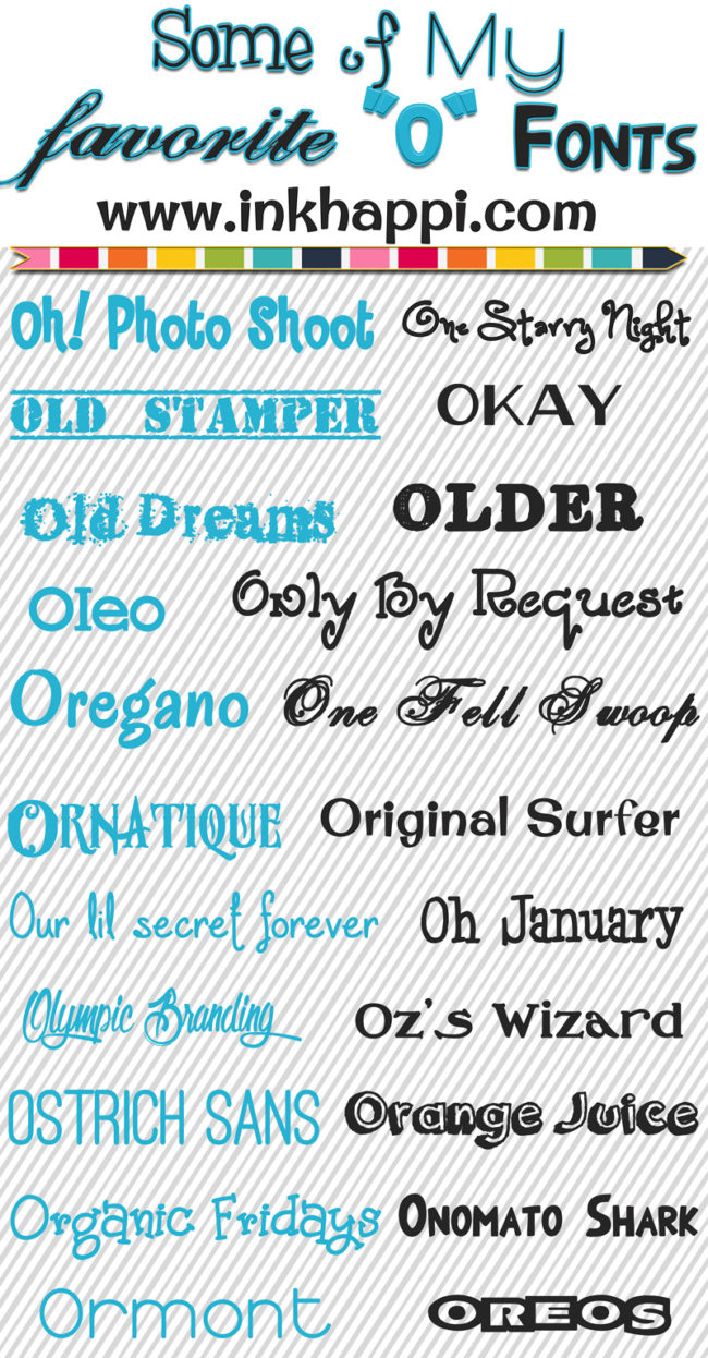 "Sharing the alphabet of free fonts. Some of my favorite free ""O"" fonts."