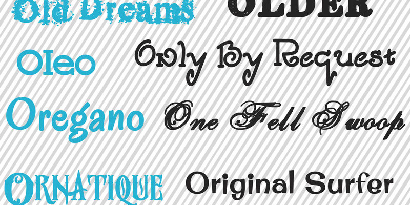"Another free fonts post… Some of my favorite ""O"" fonts!"