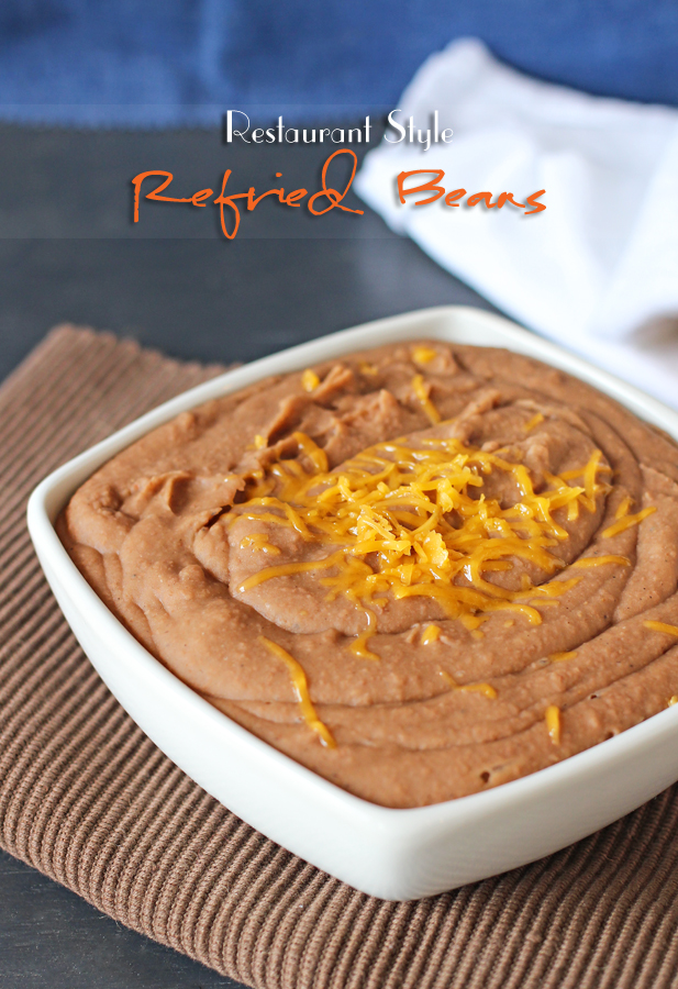 This refried bean recipe from one of my favorite foodies, Gina from Kleinworth & Company is awesome!
