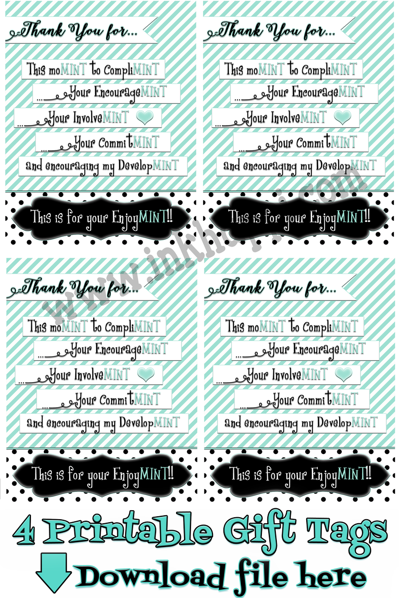 "Teacher Appreciation ""Minty"" Gift Idea and Printable Tags ..."