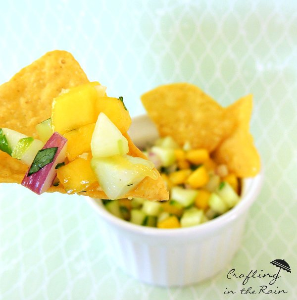 YuMmmmm! Mango Cucumber Salsa from Crafting in the rain