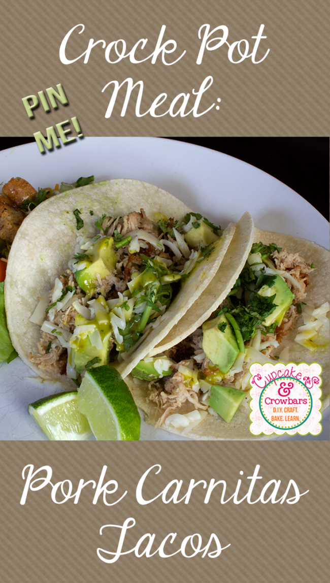 This recipe: Carnitas in The Crock Pot from Cupcakes & Crowbars is amazing!