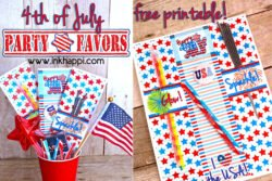 4th of july party favors free printables #4thofJuly #freeprintables #partyfavors