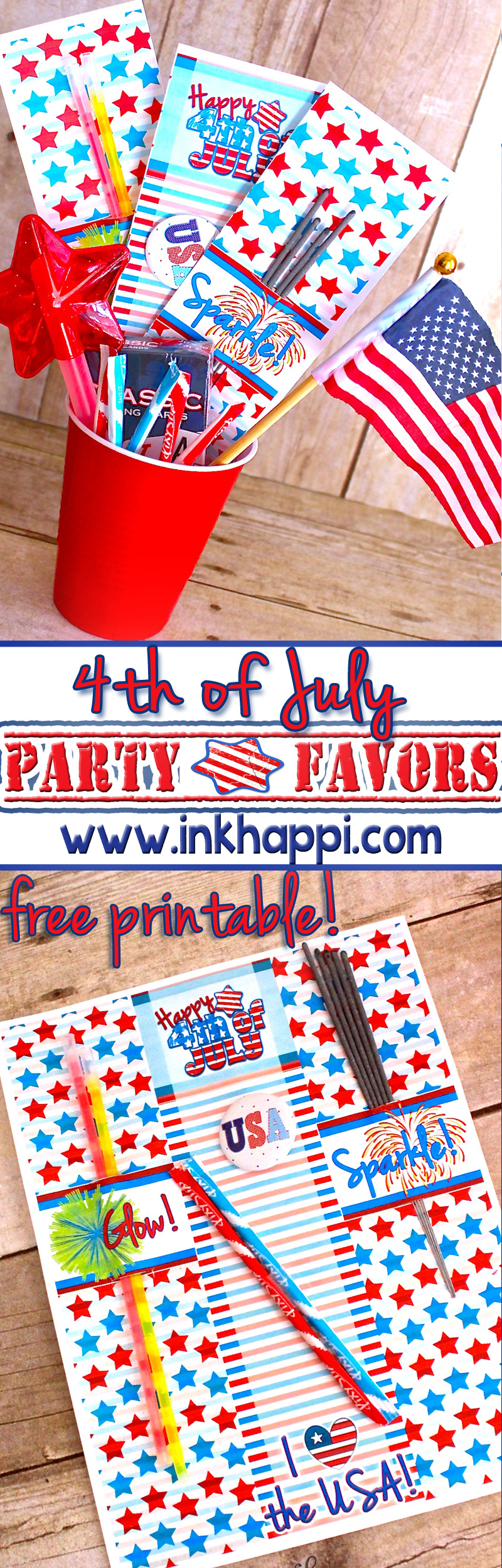 4th of july party favors 4of july 4th of july party favors with printable sparkler and glow stick holders party favors cheap easy diy inkhappi