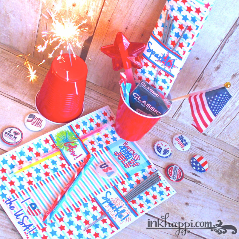4th Of July Party Favors With Printable Sparkler And Glow Stick Holders