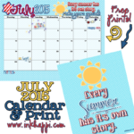 July 2015 Calendar is ready for your summer story!