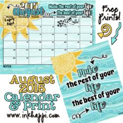August 2015 Calendar is here!