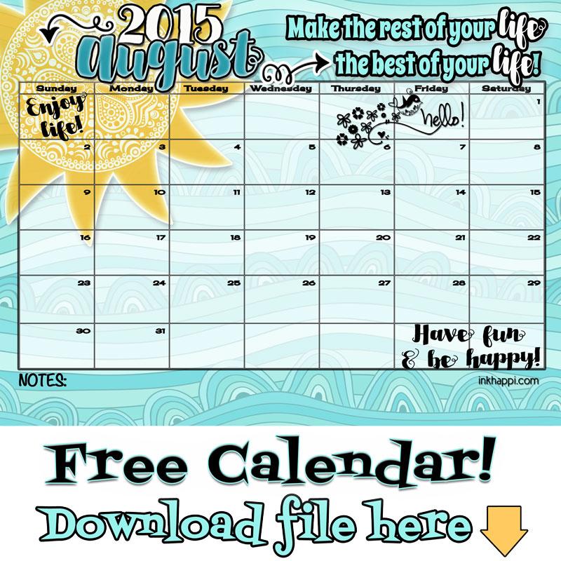 Downloadable Calendar – 2017 printable calendar