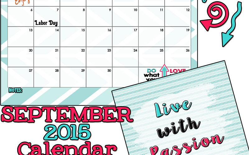 September 2015 Calendar from inkhappi has arrived!