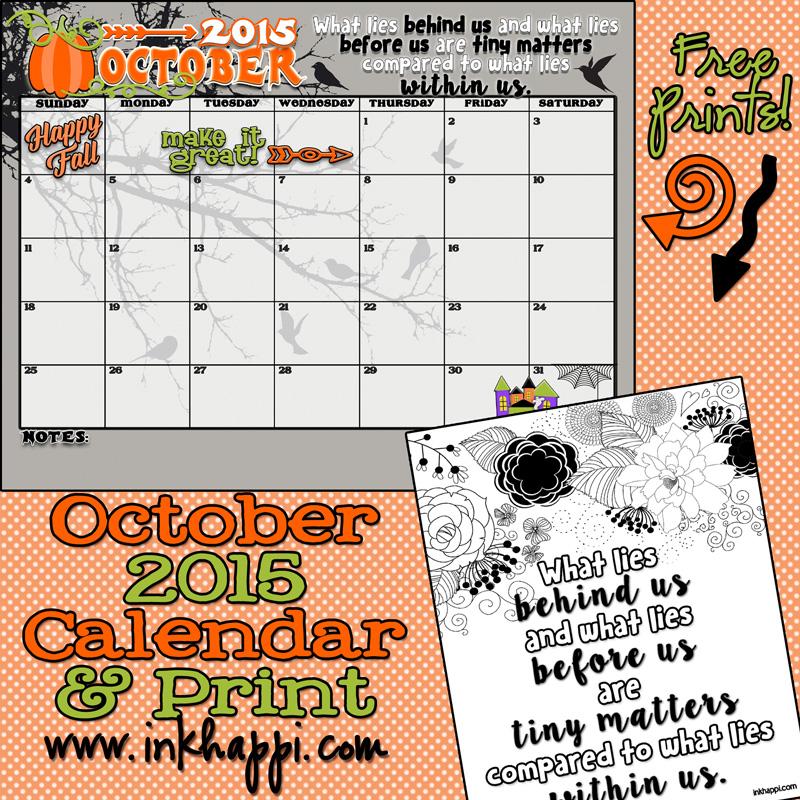 Calener October: October 2015 Calendar... Come And Get It!