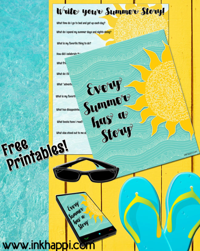 Every summer has a story. Write yours! freesummer printables