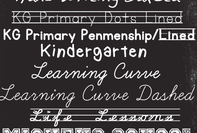 A great collection of free school fonts!