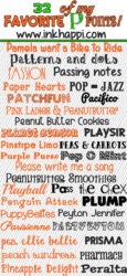 32 fabulous P fonts. Free downloads and links!