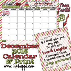 December 2015 Calendar is up. All I can say is WOW!
