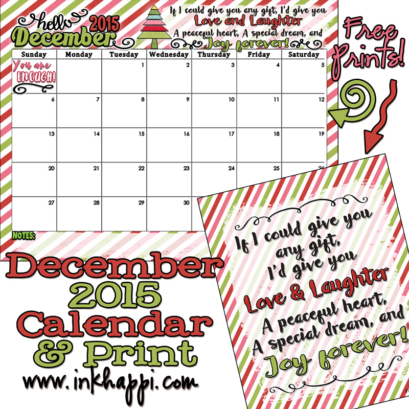 December 2015 Calendar Is Up All I Can Say Is WOW Inkhappi