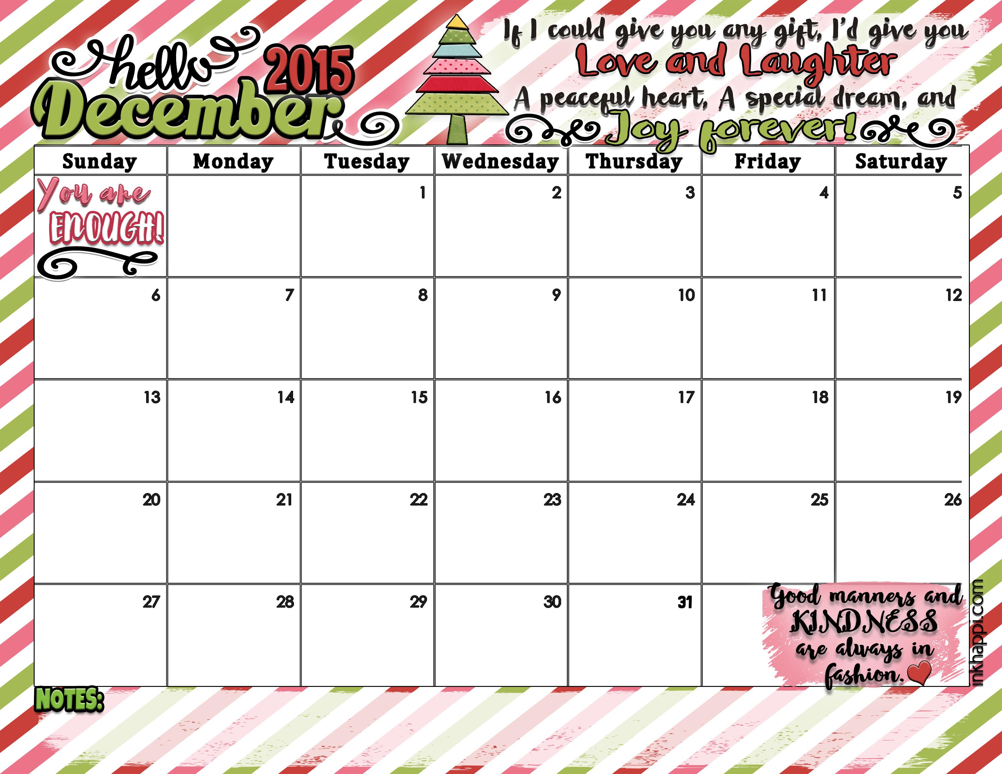 December 2015 Calendar Outlook | Calendar Template 2016