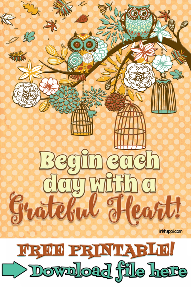 Yay! It's the November 2015 Calendar from inkhappi along with a gratitude print. Free printables!