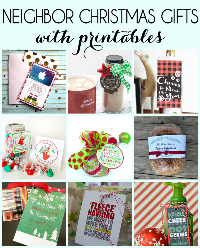 Neighbor gift idea for the holidays and free printable for Great gifts for neighbors on the holiday