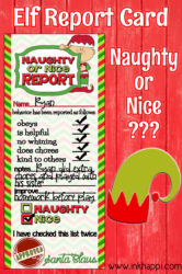 Elf report card, plus more Holiday Printables and a Giveaway!