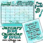 January 2016 Calendar… Hello New Year!